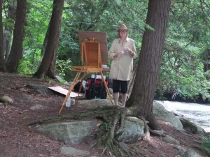SG-Abbott-painting-at-rapids-haliburton