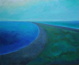 """Looking South at Pelee"", 20"" x 24"", Acrylic on Canvas"