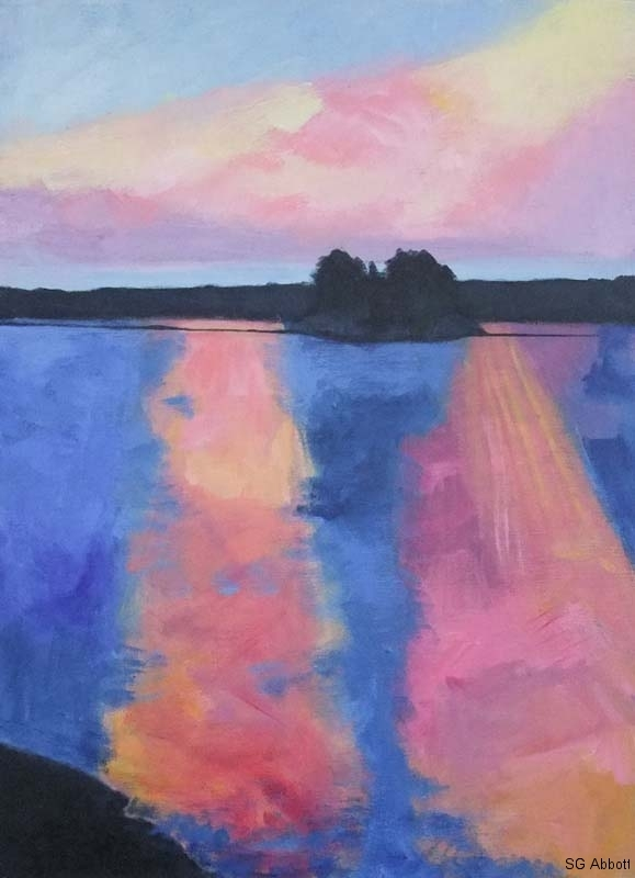© 2017 Susan G Abbott - Sunset from Memquisit